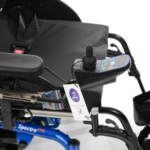 Invacare Spectra XTR 2 shown with blue controller