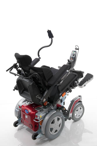 Invacare Storm 4 shown with tilt-in-space, matrix backrest and iPortal