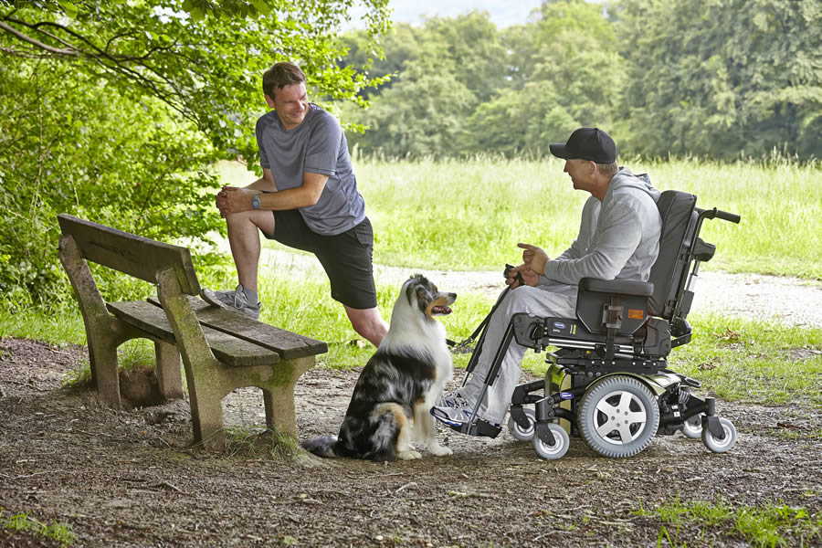Invacare TDX SP2 show in use