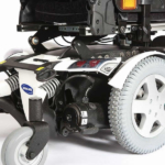Invacare TDX 2NB showing the wheels