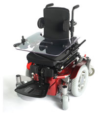 Zippie Salsa M shown in red with centre footplate