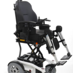 Sunrise Medical Luca QLASS shown with electric seat riser