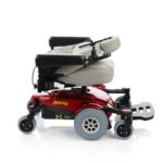 Pride Mobility Jazzy Select 6 showing folding backrest