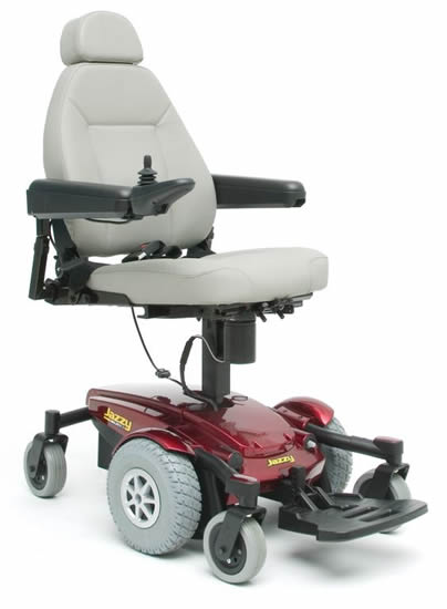 Pride Mobility Jazzy Select 6 shown in hi-low