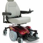 Pride Mobility Jazzy Select 6 shown in red
