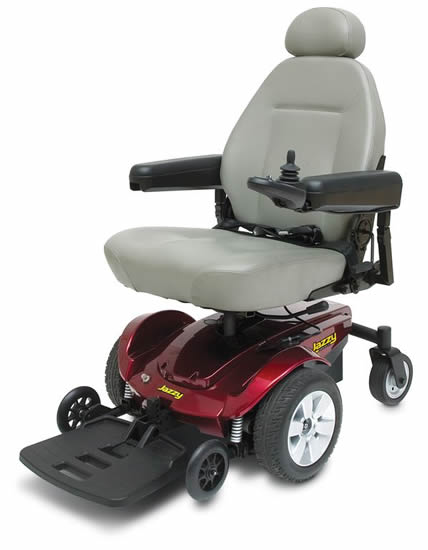 Pride Mobility Jazzy Select 6 shown with left hand control