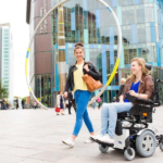 Invacare TDX 2NB shown in use