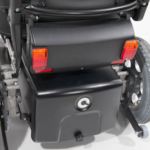 Sunrise Medical XP showing the rear light option and 40amp battery box option