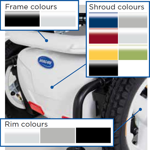 Invacare colours
